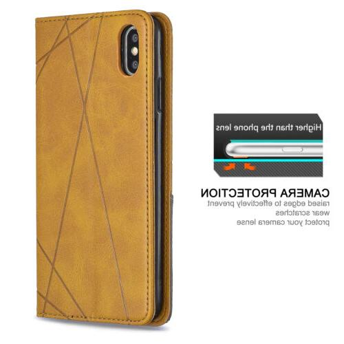 For 8 Plus 7 XS XR Leather