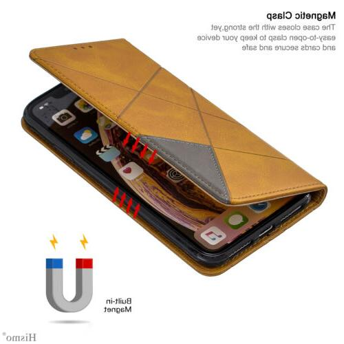 For 8 7 6s XS XR Stand Leather