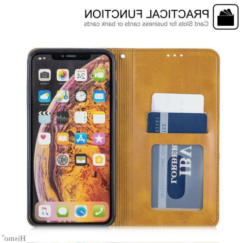 For 7 6s XS Max XR Case Leather Magnetic
