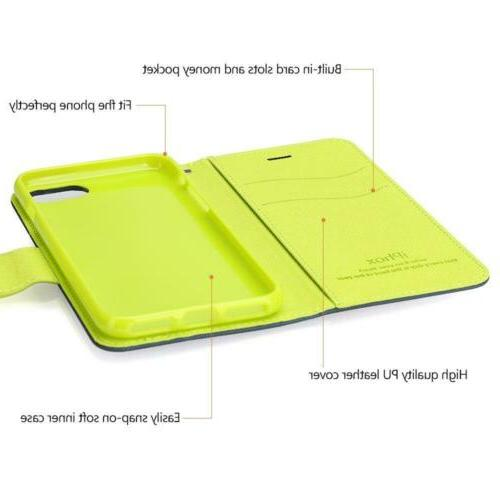 iPhone Plus Leather Case, IPHOX Folio