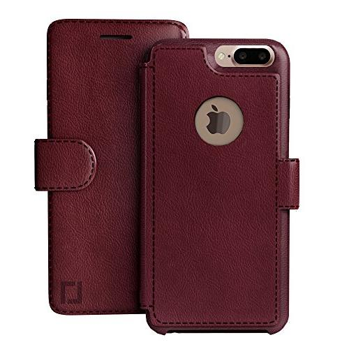 iPhone Wallet Lightweight Classic & Ultra-Strong Faux Leather, 8 Plus