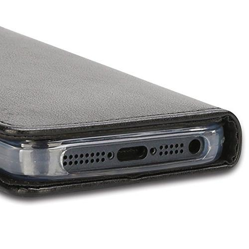 iPhone Case, iPhone 5S Closure Pouch, Leather Case Purse Stand Flip Case for