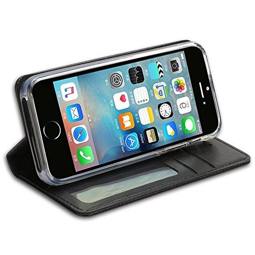 iPhone 5S Case, Closure Money Pouch, Leather Wallet Case for iPhone