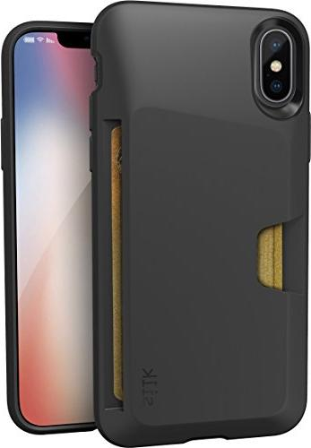 Silk iPhone XS Wallet Vol. - Black