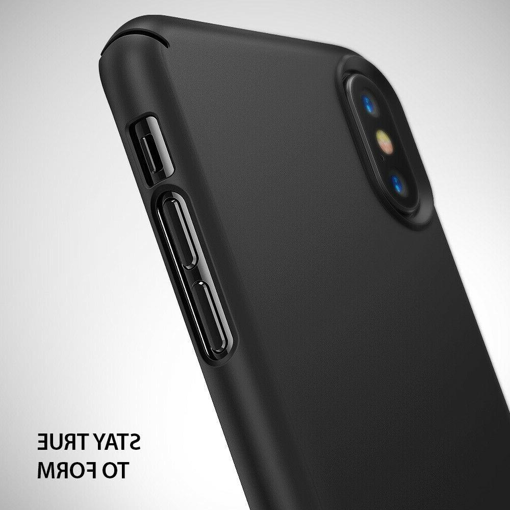 For iPhone X XS | Ringke Shockproof Ultra Thin Back Protective Cover
