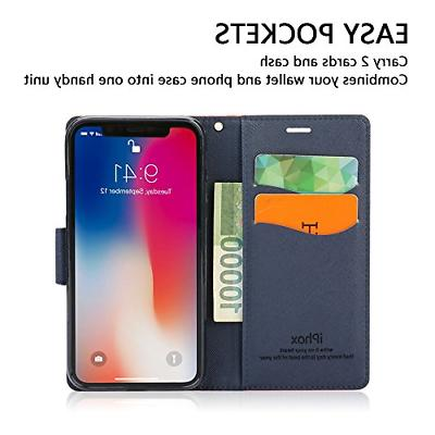 iPhone X IPHOX iPhone Case Wallet Flip Cover