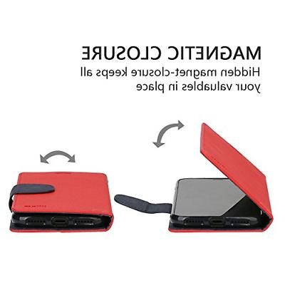 iPhone Wallet Case, IPHOX X Leather Wireless PU