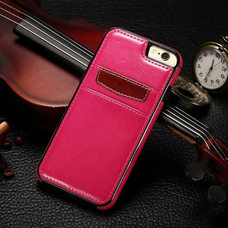 For iPhone XR XS Max Samsung S9 Card Case