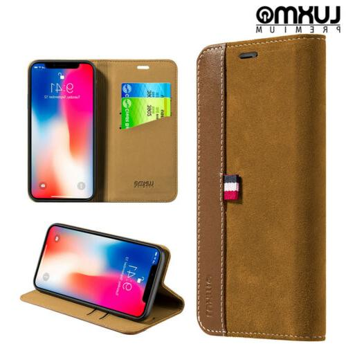 For iPhone Wallet Phone Case Leather Cover Pouch Flip Card