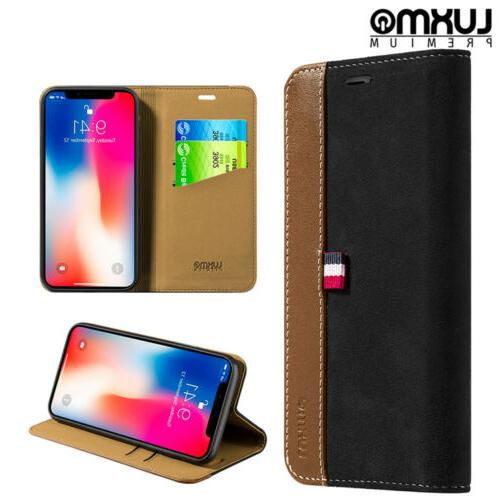 For iPhone Wallet Leather Cover