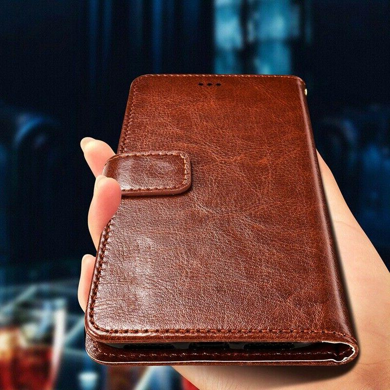 For iPhone XR Max 8 Plus PU Leather Wallet Card Case