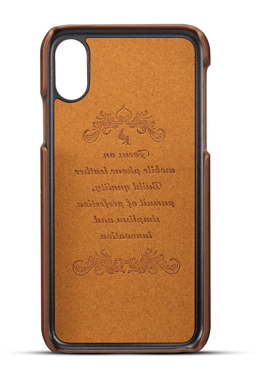 For iPhone XR Leather Slot Case