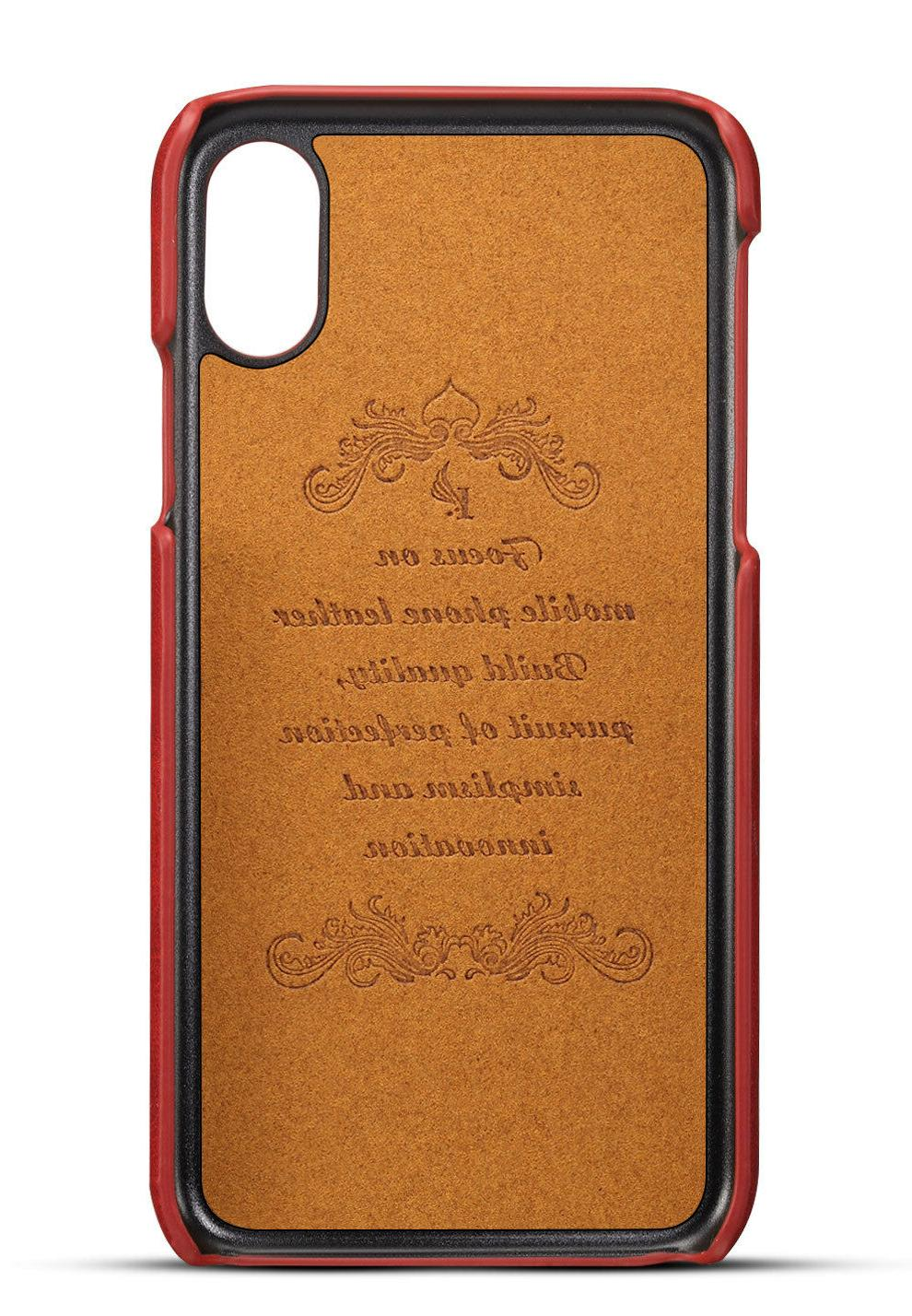 For iPhone XR Leather Wallet Slot Case