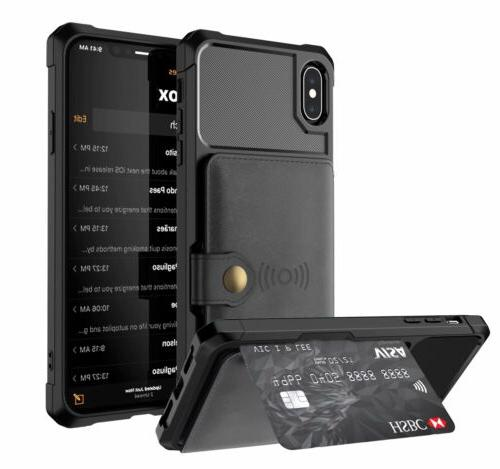 iPhone Xr X 7 Magnetic Leather Wallet