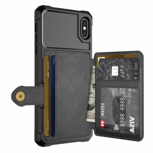 iPhone Max X 7 8 Leather Wallet