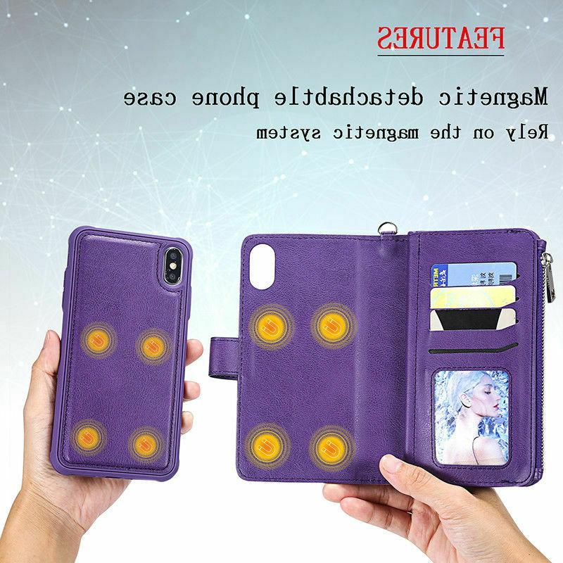 For XR 6 Removable Leather Wallet Purse