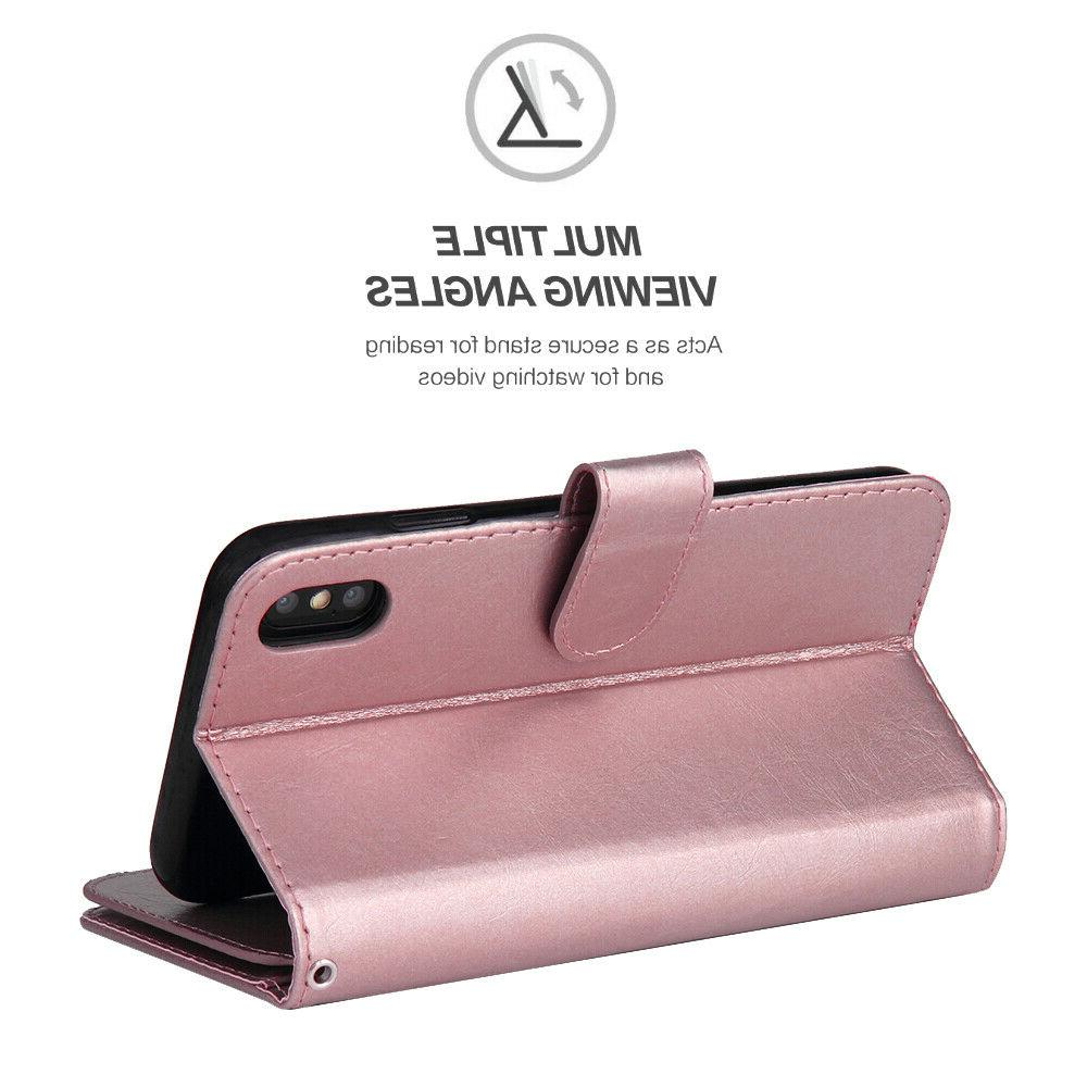 iPhone MAX X 7 Plus Luxury Leather Flip Case For Apple