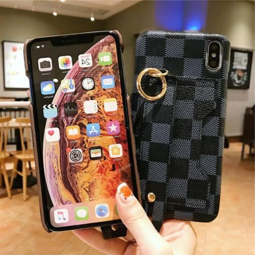 For XS XR 6s PU Wrist Case Cover