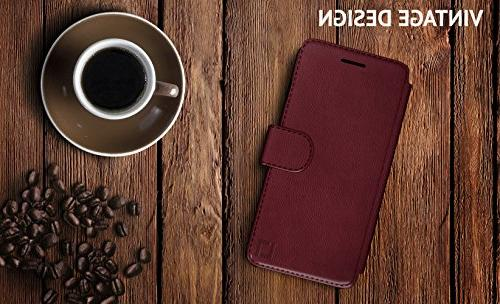 iPhone Case, and Lightweight with & Ultra-Strong Faux Leather, 8 Plus