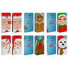 JOLLY CHRISTMAS CHARACTERS LEATHER BOOK WALLET CASE FOR SAMS