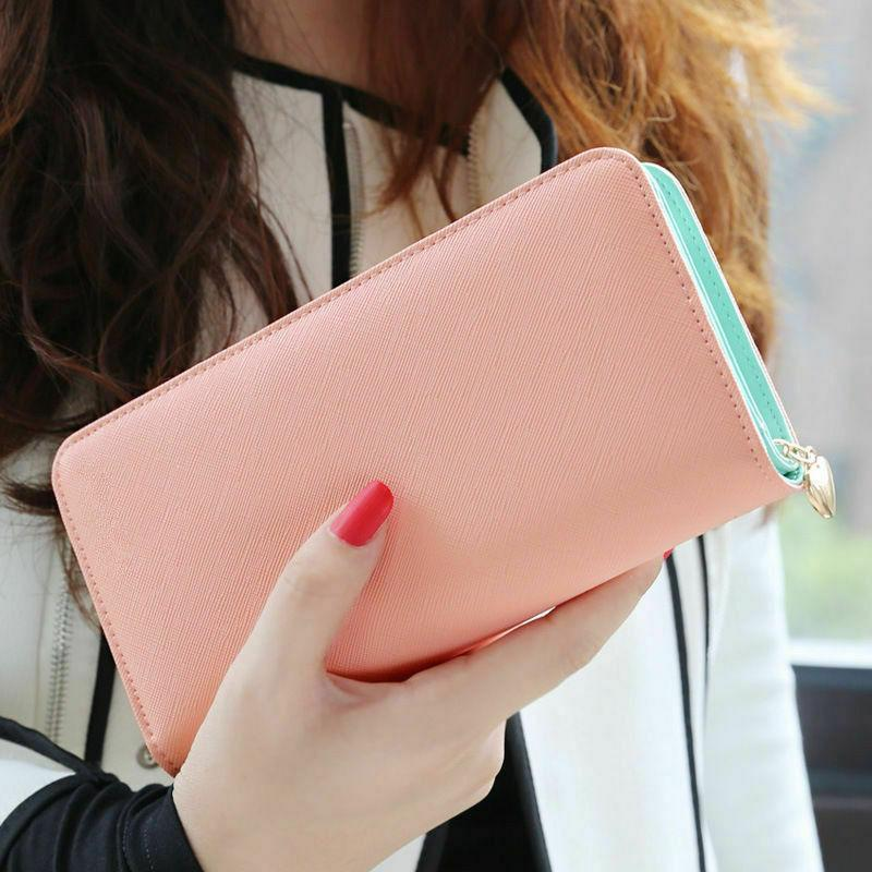 Large Capacity Leather Clutch Card Phone Case