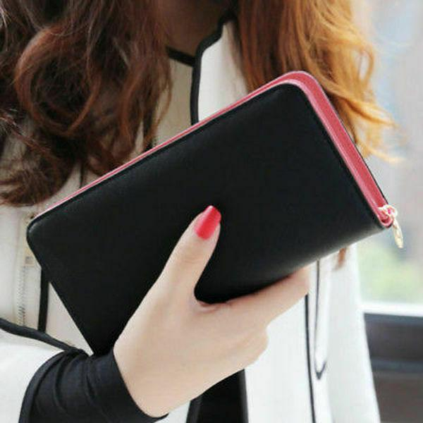 Large Leather Card Holder Phone