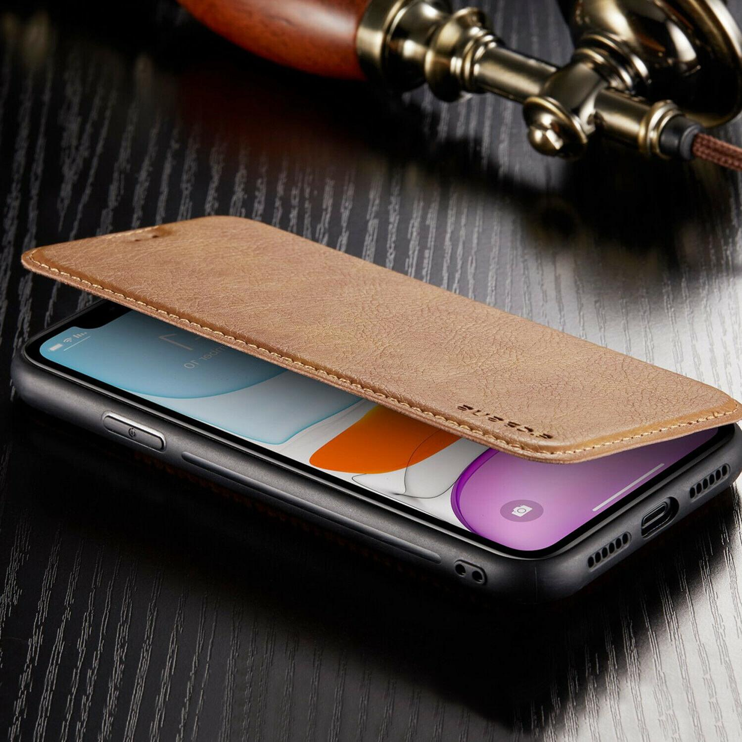 Leather Flip Cover Case For iPhone 11 Pro XS MAX