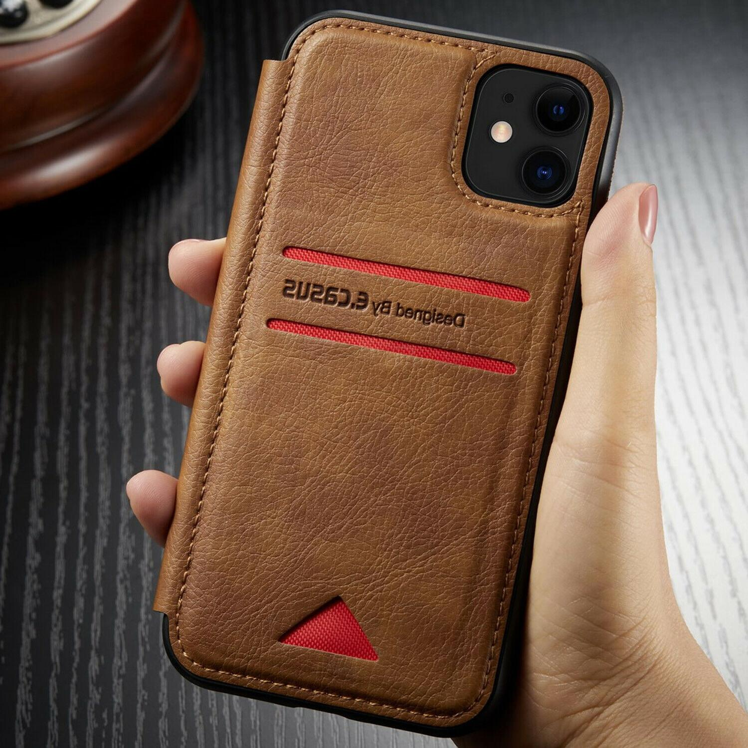 Leather Wallet Flip Cover Slim For