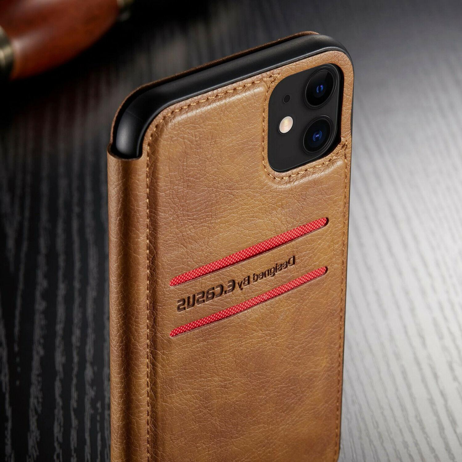 Leather Wallet Flip Case For iPhone 11