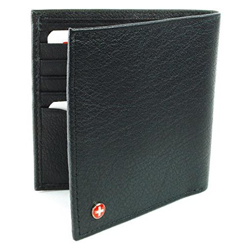 leather bifold hipster wallet money