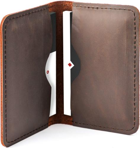 leather business card holder professional bifold business