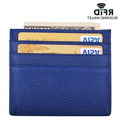 MaxGear Leather Credit Case Slim Leather Credit Card for Wallets