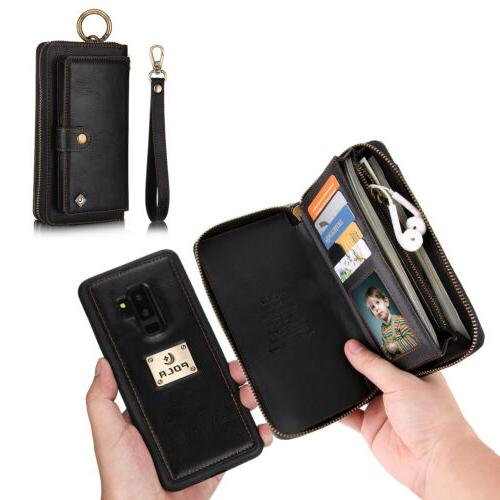 Leather Detachable Zipper Card Galaxy Note