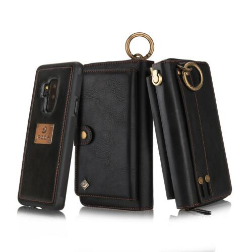 Leather Zipper Card For Galaxy