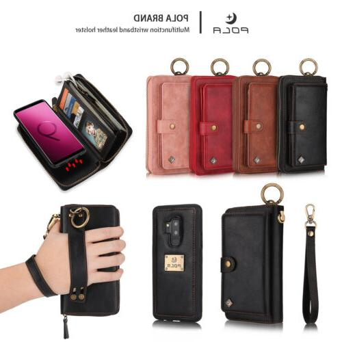 Leather Detachable Zipper Case For Galaxy Note