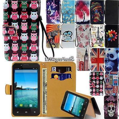 leather flip stand wallet card cover case