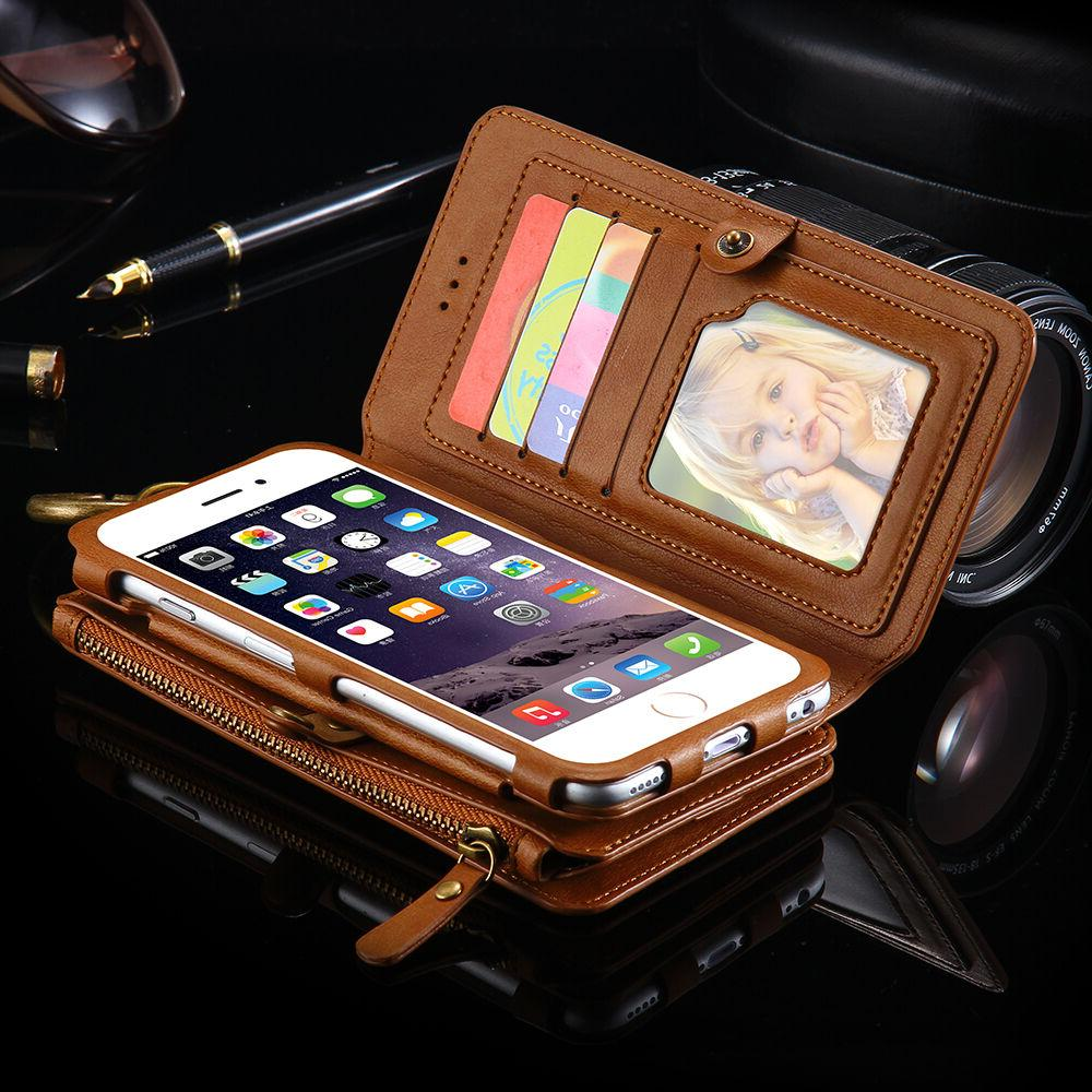 Leather Handbag Retro Stand Wallet Case Apple iPhone 6 6S 6