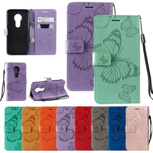 leather magnetic flip wallet stand case cover