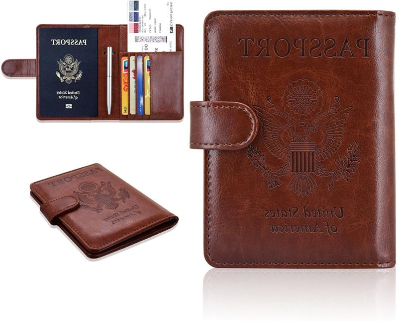 Acdream Leather Passport Cover Case Rfid Travel