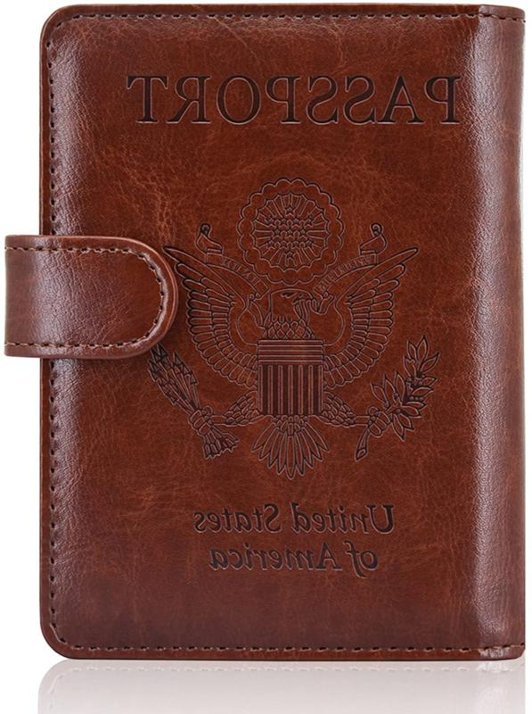 leather passport holder cover case rfid blocking