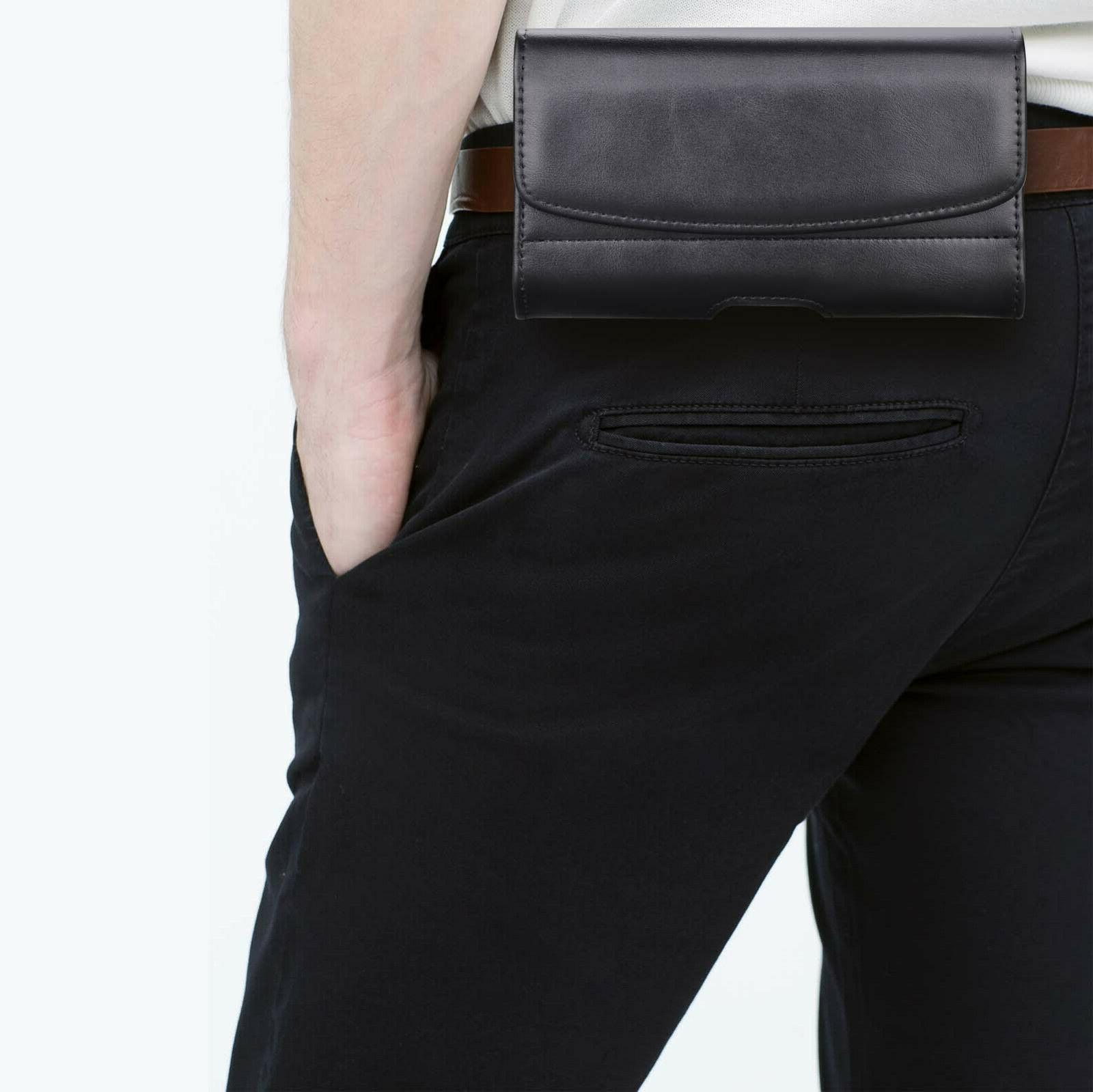 Leather Phone Belt Holster Pouch Holder