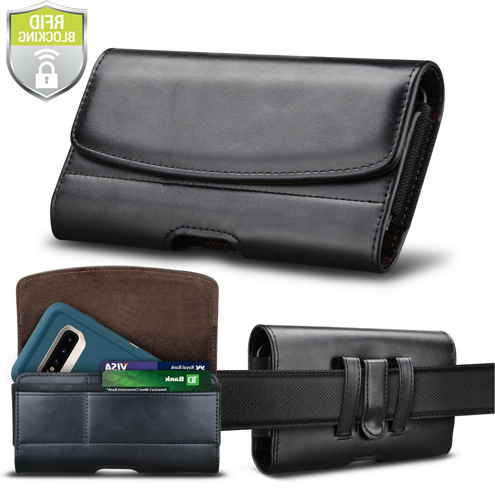 leather phone belt clip holster pouch case