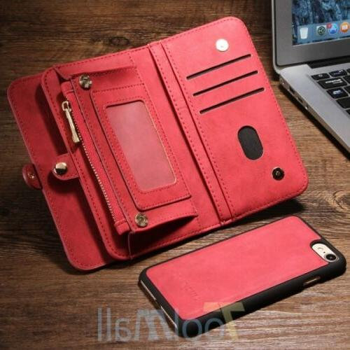 Leather Removable Magnetic Flip Case For 6S 5S