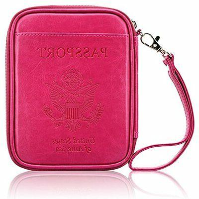 ACdream Leather RFID Blocking Wallet Case Bag For Family Tra