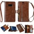 Wallet Case Leather Samsung Galaxy S8 Cover Flip Note 8 Shoc