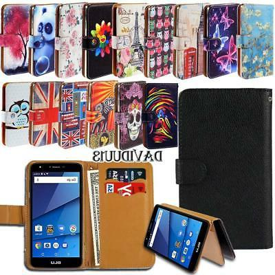 leather smart stand wallet case cover