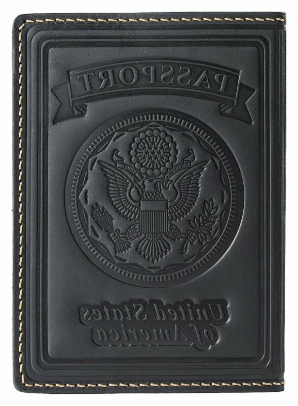 Leather US Passport Holder Cover Wallet For