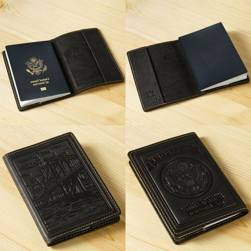 Leather Passport Cover Case Wallet Organizer For Women