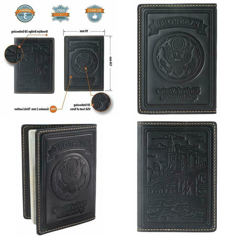 leather us passport holder cover case wallet