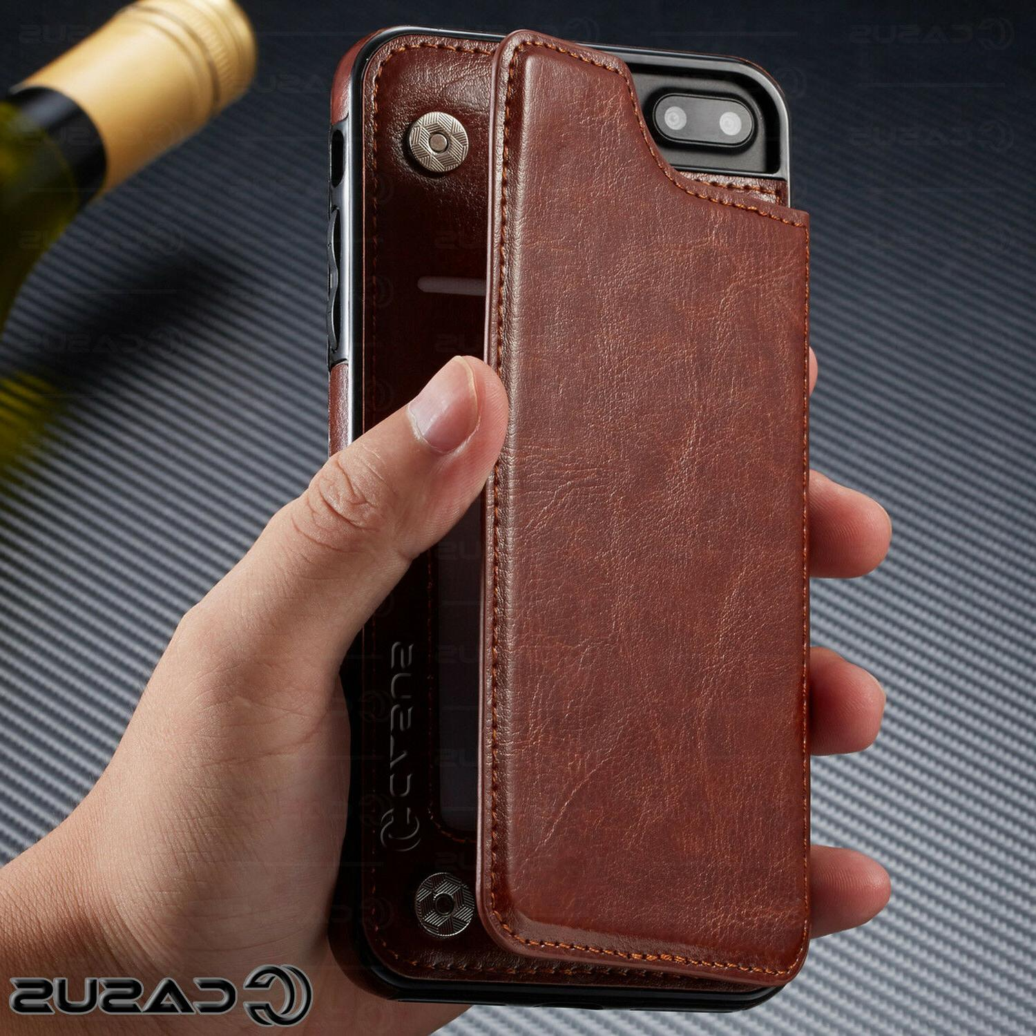 Leather Wallet Flip Thin Case FOR &